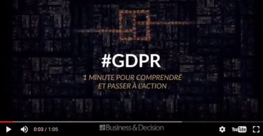 GDPR: 1 minute to understand and take action